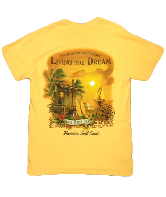 0059b3abd9f Living the Dream Tshirt - Island Bazaar