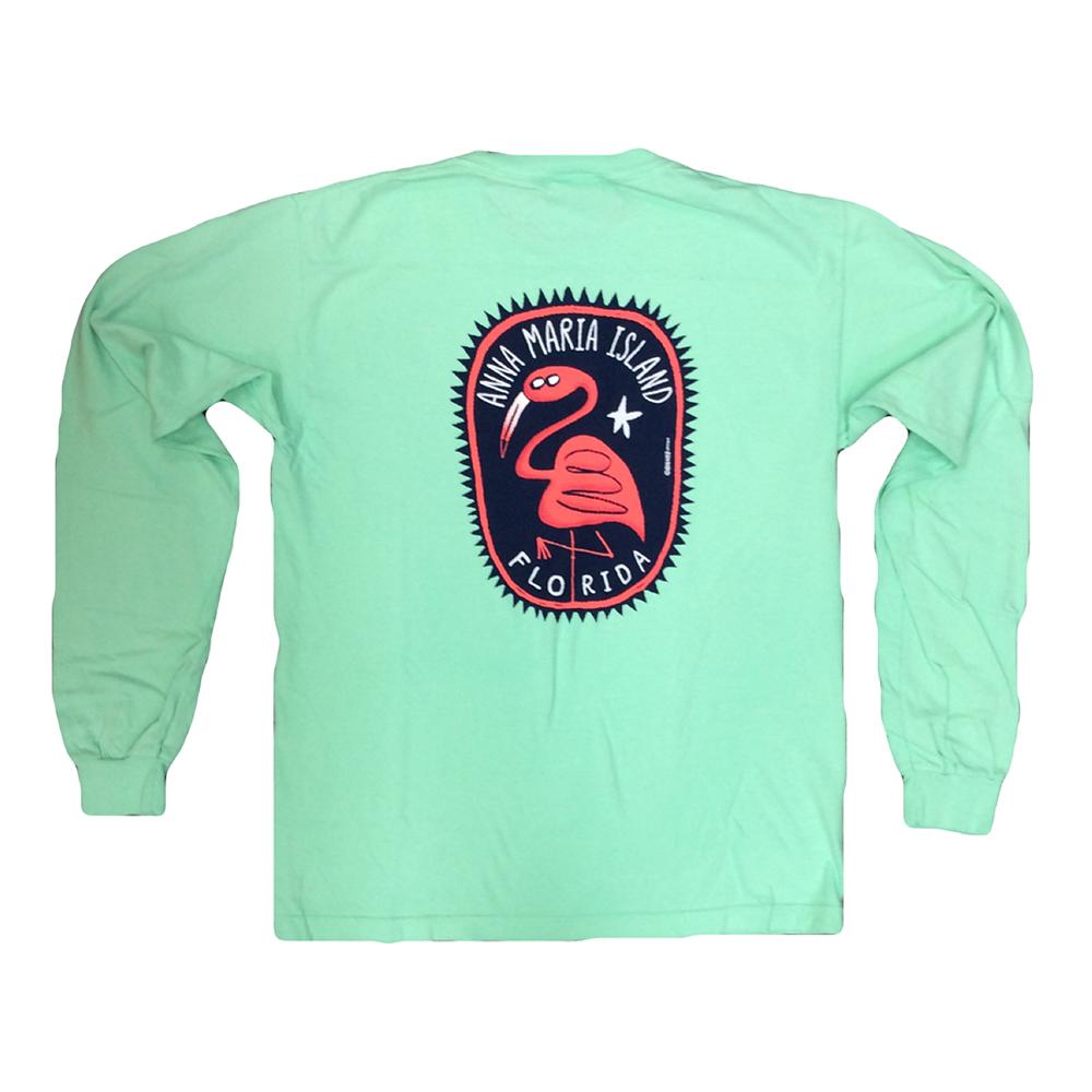 Big Hed Flamingo Long Sleeve T Shirt Island Bazaar